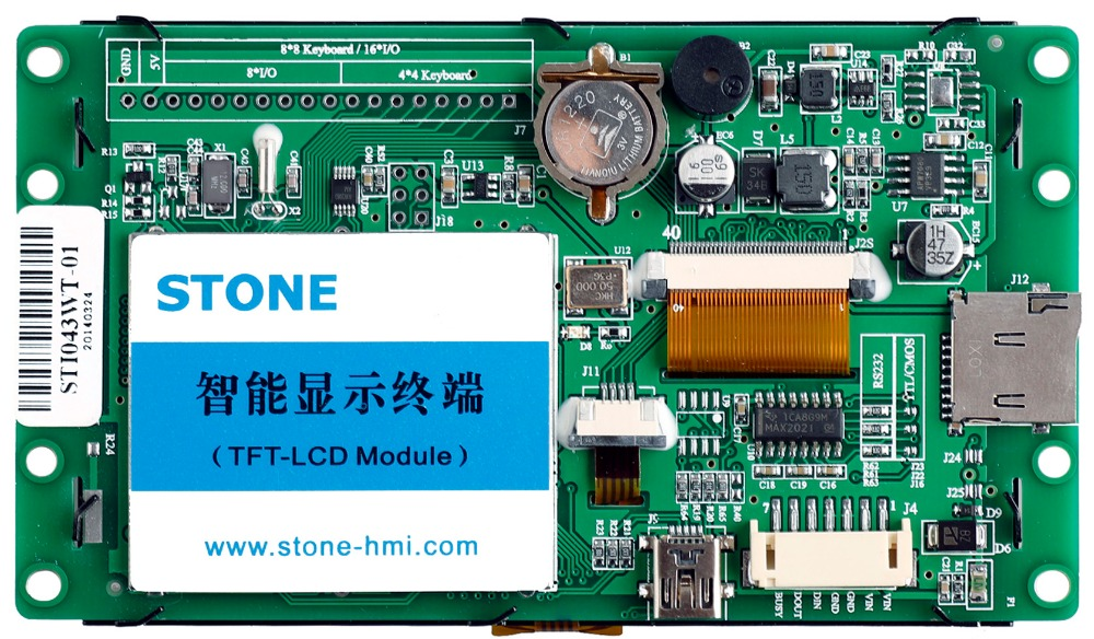 4.3 Inch HMI Display TFT LCD Module With RS232/RS485/TTL Port4.3 Inch HMI Display TFT LCD Module With RS232/RS485/TTL Port