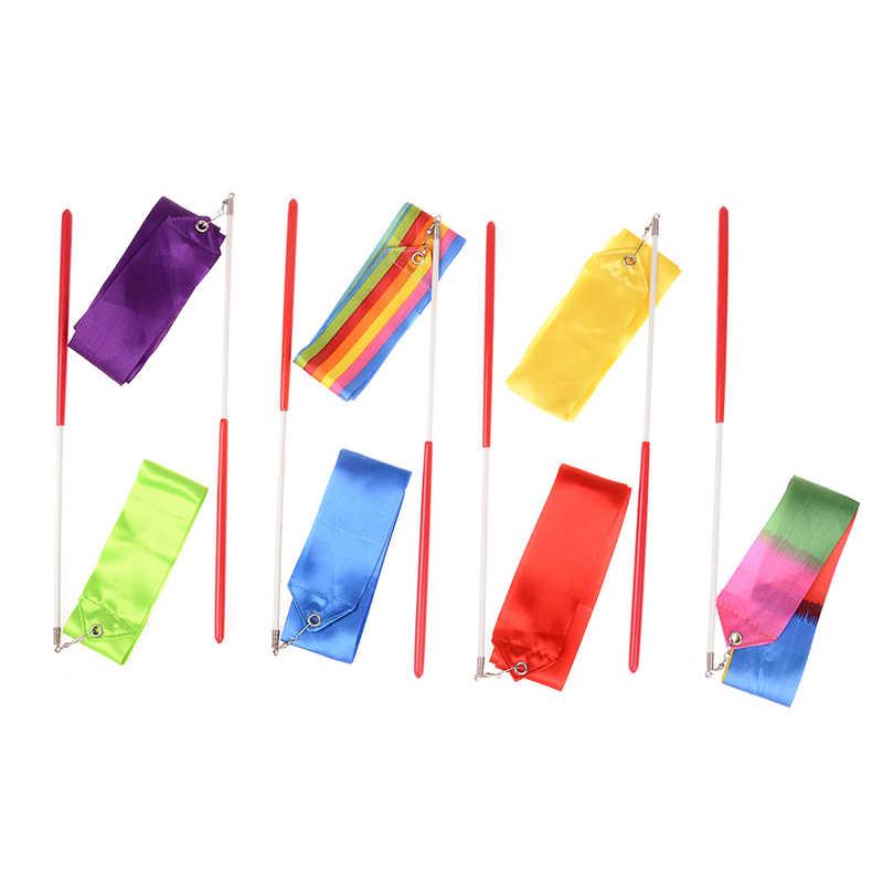 1M danse ruban gymnastique rythmique gymnastique Art gymnastique Ballet Streamer Twirling Rod sports de plein air jeux pour enfants enfants jouets