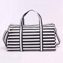 Travelling Tote Bags 2016 New Design  Women Fashion Casual Striped Leather Large Capacity Shopping Crossbody Shoulder Bag