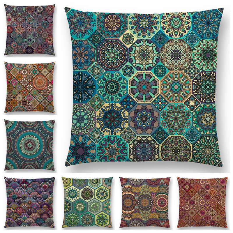 MI-10-1004 Compass Embroidered Iron On Motif Applique Turquoise each