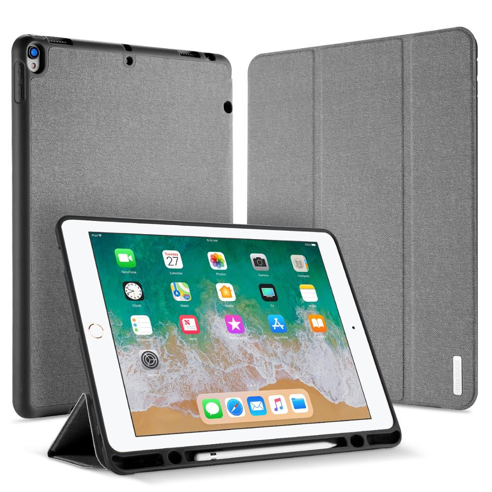 For iPad Pro 12.9 Case DUX DUCIS PU Leather Auto Sleep With Pencil Holder Stand Smart Cover Case For iPad Pro 12.9 Inch 2017 for ipad pro 12 9 2017 2015 smart tablet case cover high quality genuine leather pu folding stand case card slots pencil holder
