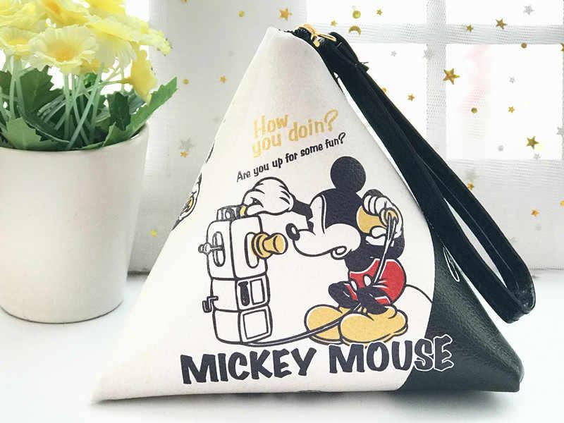 Disney Mickey prinzessin frauen Münze plüsch Geldbörse lady make up Stich Hand Kupplung Cartoon Münze PU Geldbörse make-up tasche für lagerung TSUM