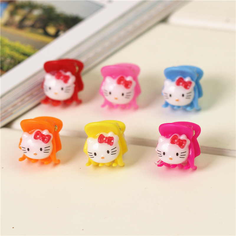 korean summer cute mini hello kitty kids baby girls hairclips plastic catch the hair child clips hairpins barrettes accessories
