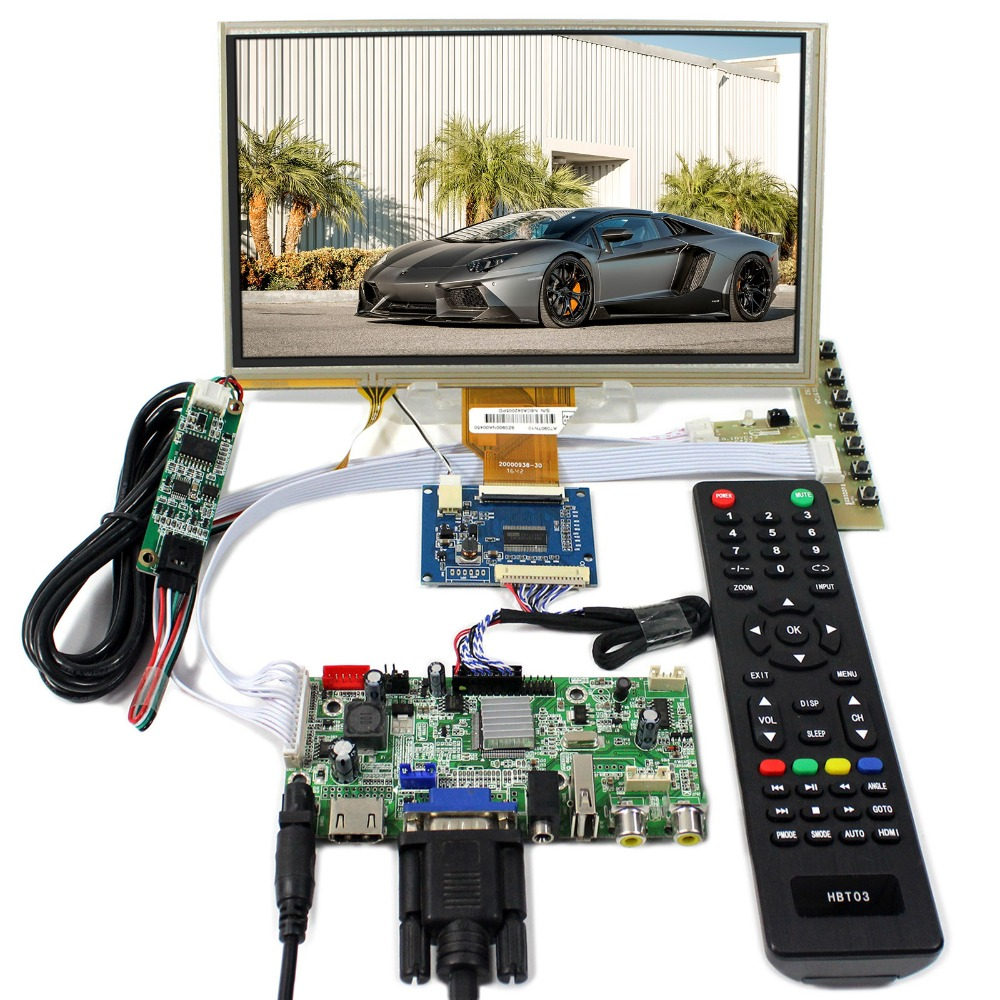 HDMI+VGA+AV+Audio+USB LCD Controller Board With 9inch 800x480 AT090TN10 Touch LCD Panel goowiiz серый mi 8 explore