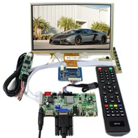 Hdmi + vga + av + 오디오 + usb lcd 컨트롤러 보드  9 인치 800x480 at090tn10 터치 lcd 패널