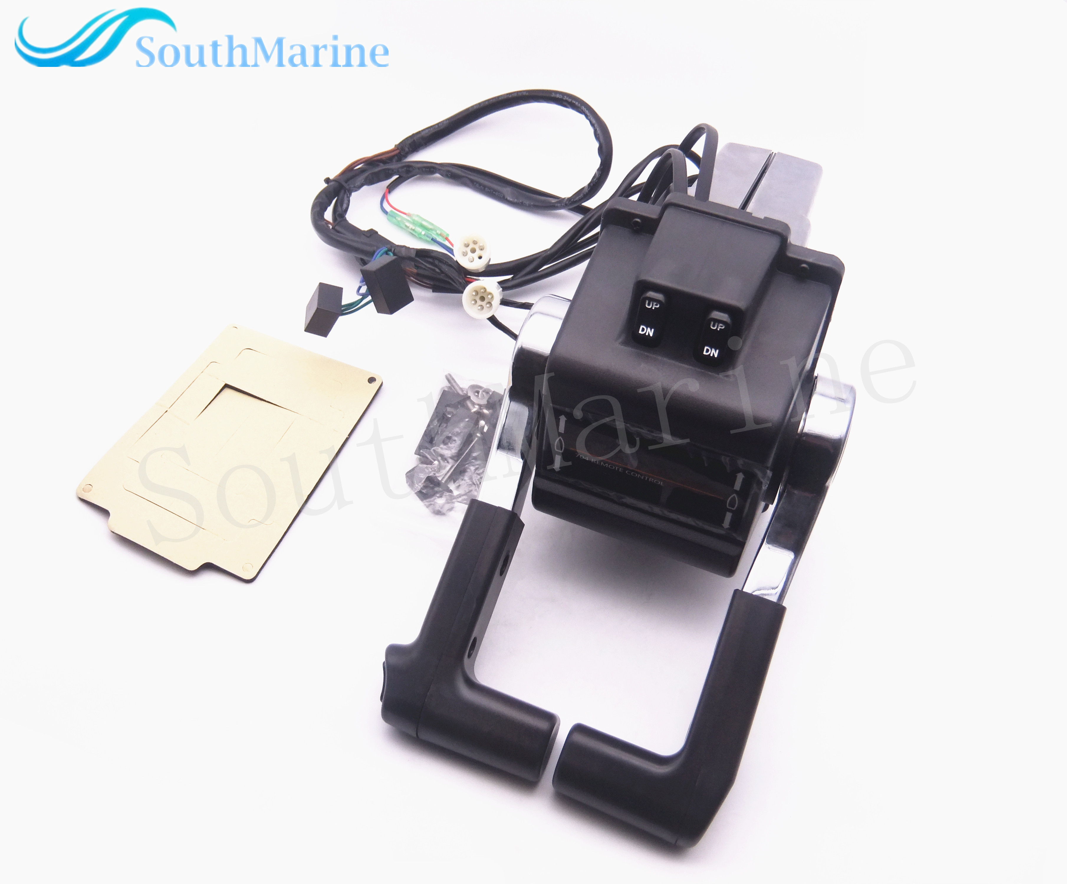 Dual Twin Remote Control Box 704-48207-23-00 704-48207 704 for Yamaha Outboard Motors W PT/T SW, Push