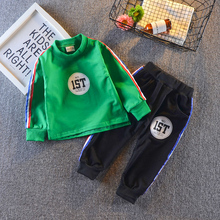 Kids Autumn Clothes Cotton Letter  Printed Boys T-shirt Set Casual Children Clothing Girl Winter Clothes For Kids baby clothes autumn winter kids boys clothing set hooded letter printed thick fleece red black hoodies and pants children christmas clothes