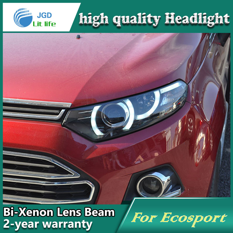 Car Styling Head Lamp case for Ford Ecosport Headlights LED Headlight DRL Lens Double Beam Bi-Xenon HID car Accessories car styling head lamp case for ford focus 3 2015 2017 headlights led headlight drl lens double beam bi xenon hid car accessories