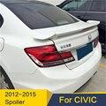 Задний багажник крышка автомобиля спойлер крыло для Honda Civic спойлер 2012-2013 ABS Материал заднее крыло украшение Выделенные аксессуары