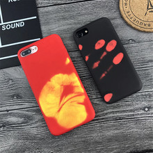 Temperature Case For iPhone X 8 7 Plus 6 6S Plus PC hard shell Discoloration Thermal Sensor Cases For iPhone 5 5S SE Back Cover floveme mirror pc flip leather case for iphone 6s 6 7 8 plus 5s cover plating smart window cases for iphone x 10 5s 5 se shell