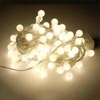 Thrisdar 10M 100 LED Connectable Festoon Globe Ball LED Fairy String Light Garland Christmas Wedding Garden