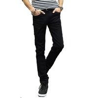 Summer Skinny Jeans Men S Slim Feet Pants Youth Stretch Korean Tide Black Long Pants Men