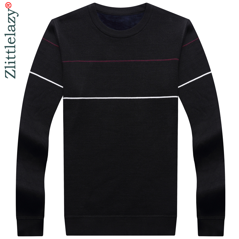 2019 New Designer Pullover Striped Men Sweater Dress Thick Winter Warm Jersey Knitted Sweaters Mens Wear Slim Fit Knitwear 50553
