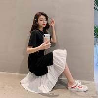 2019 Summer Women Black Dress Casual mesh mini Dress Sexy casual dress