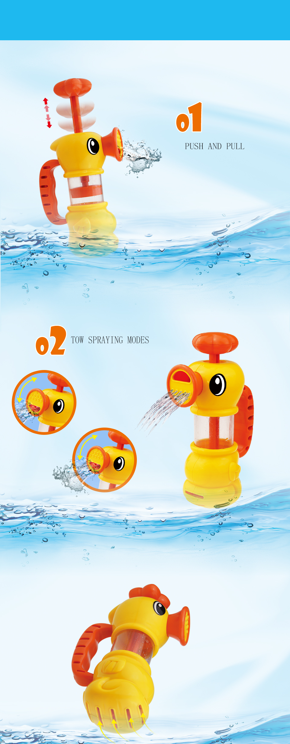 Funny Presents Children Water Shower Bath Toys Kids Bathing