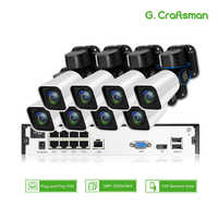 8ch 5MP POE PTZ Kit H.265 System 2.8-12mm 4X Optical Zoom CCTV Security Outdoor Waterproof IP Camera 16ch NVR Surveillance Video