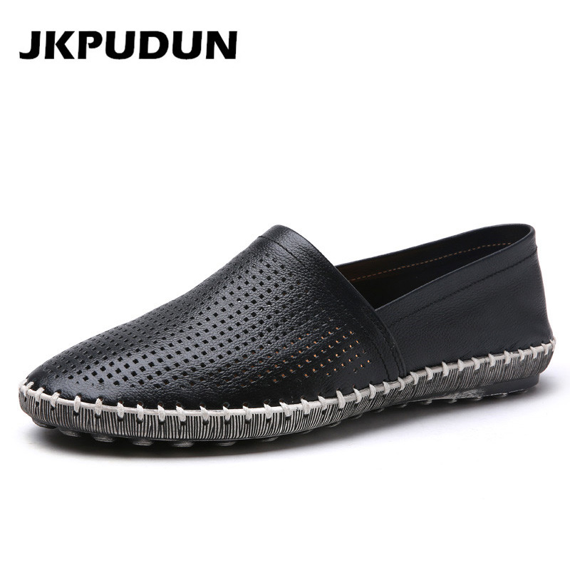 JKPUDUN Mens Summer Boat Shoes Casual Luxury Brand Italian