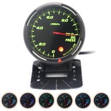 60MM 10Bar Pressure Gauge 64 Backlight  with Mechanical Pressure Sensor (NPT1/8)  for 12V Vehicles