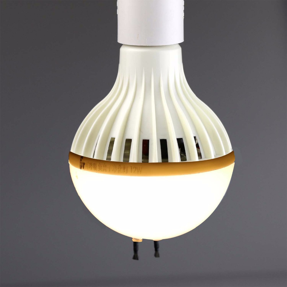 Negative Ion Air Freshener Cleaner LED High Anion Light Bulb Ionizer Deodorant Eliminate Smoke Dusk E27 Warm White 220v 12w
