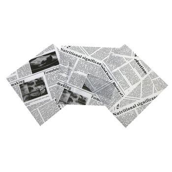 100 sztuk 18*18 cm kreatywny gazeta projekt do pakowania żywności papier woskowany odporne na olej papier do smażone w głębokim tłuszczu szybko oleju spożywczego opakowanie odporne na tanie i dobre opinie CN (pochodzenie) Folia aluminiowa papier olejowy Jednorazowe Ekologiczne 12 Oil-0021 Other Narzędzia do pieczenia i cukiernicze