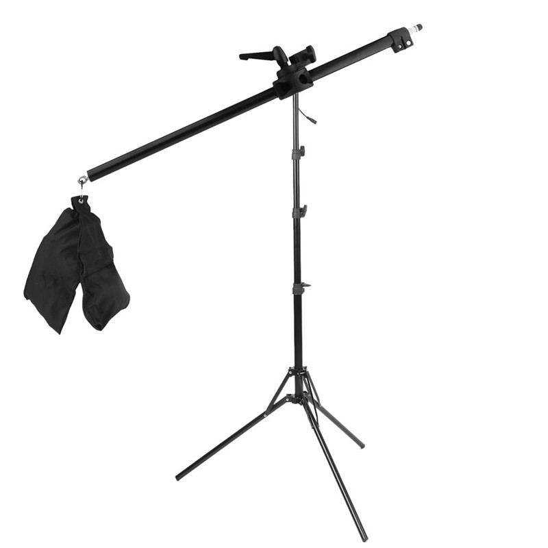 78-141CM Photo Studio Boom Arm Top Light Stand With Weight Bag Kit Photo Studio Accessories Extension Rod photo studio two section adjustable articulated arm sliding extension system photography stand handle grip