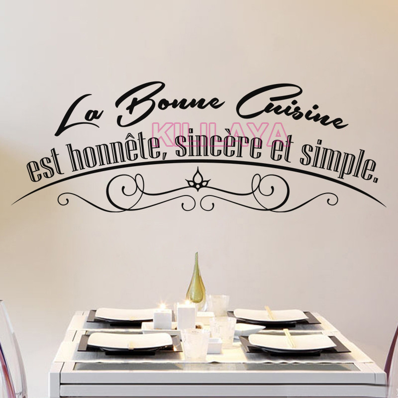 french cuisine wall stickers vinyl wall decals wallpaper mural wall paper art kitchen tile decal. Black Bedroom Furniture Sets. Home Design Ideas