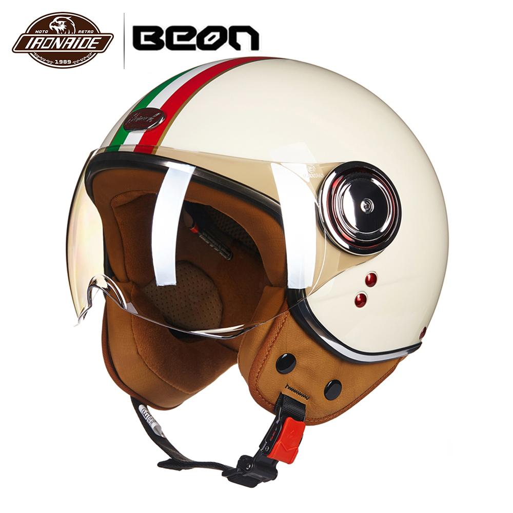 Helmets Strict Beon Motorcycle Helmet Motorcycle Scooter 3/4 Open Face Halmet Motocross Vintage Casque Moto Casque Casco Motocicleta Capacete Skilful Manufacture Motorcycle Accessories & Parts