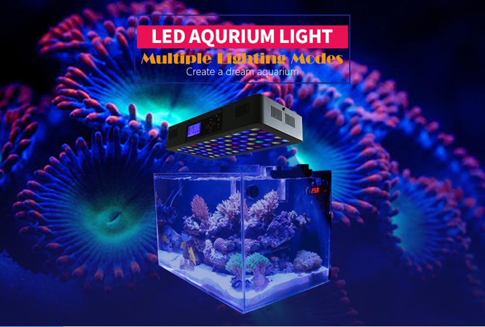 Remote or Touch control 180W LED Aquarium Light Timer Control Dimmable lamp Freshwater and Saltwater Coral Reef Grow Fish Tank (9)