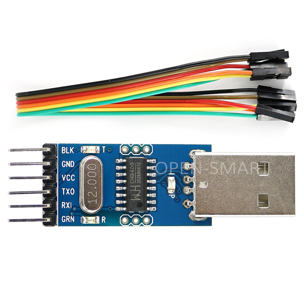 CH340G Serial Port Debugger USB to TTL Converter STC Download Cable Adapter Module for font b
