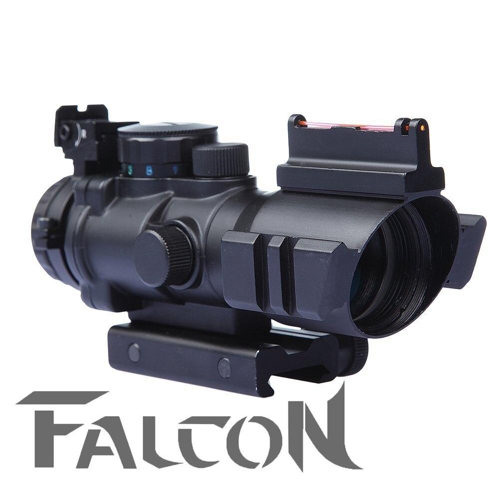 2018 nouveau 4x32 Acog lunette de visée Reflex portée tactique pistolet de visée fusil Airsoft extérieur fusil de chasse adapté pour 20mm Rail