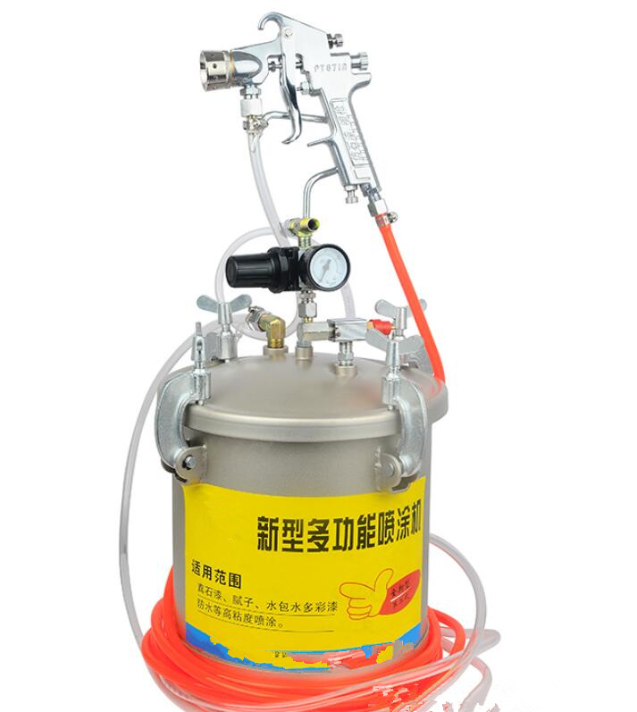 15L Water In Water Colorful Spray Gun With Painting Barrel