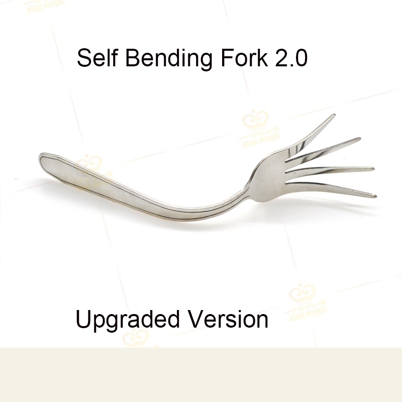 1pcs New Arrival Self Bending Fork 2.0 Upgraded Version Magic Gimmick magic trick card magic props mental Mentalism alluminum alloy magic folding table bronze color magic tricks illusions stage mentalism necessity for magician accessories