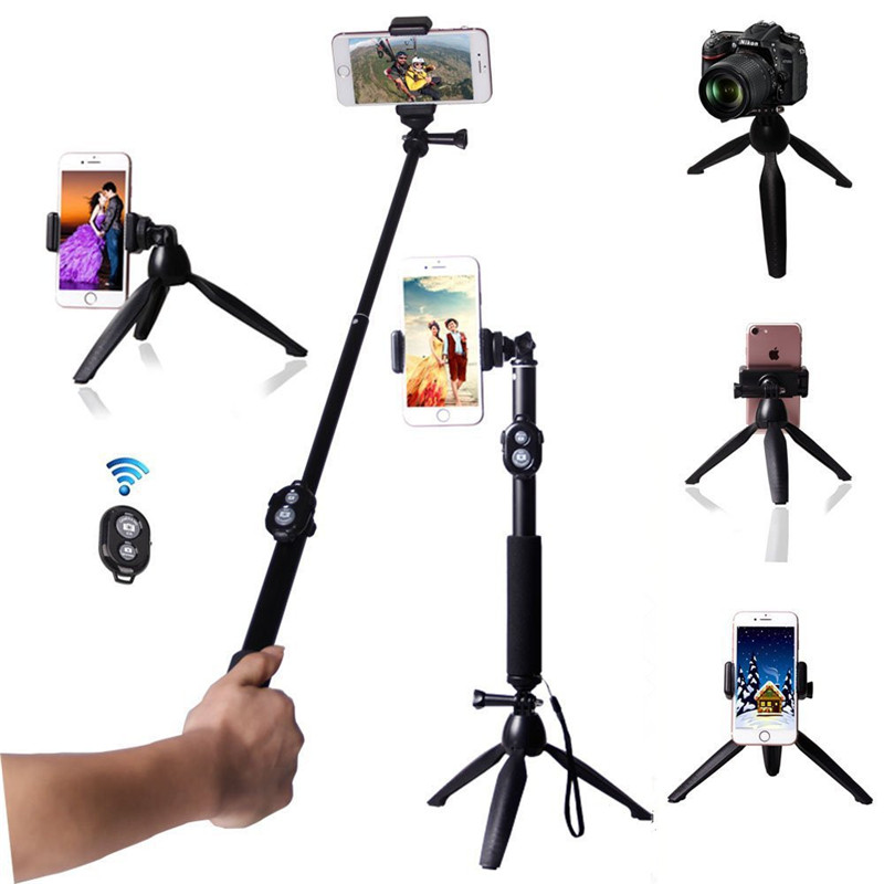 Extendable Handheld Selfie Stick With Tabletop Tripod Stand And Cellphone Bluetooth Remote Control For Cameras & Phone T&acyml Available In Various Designs And Specifications For Your Selection Live Equipment