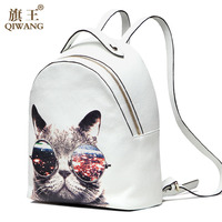 Young Lady Fashion Genuine Leather Backpack Cow Leather Backpack School Bag Purse College Bag