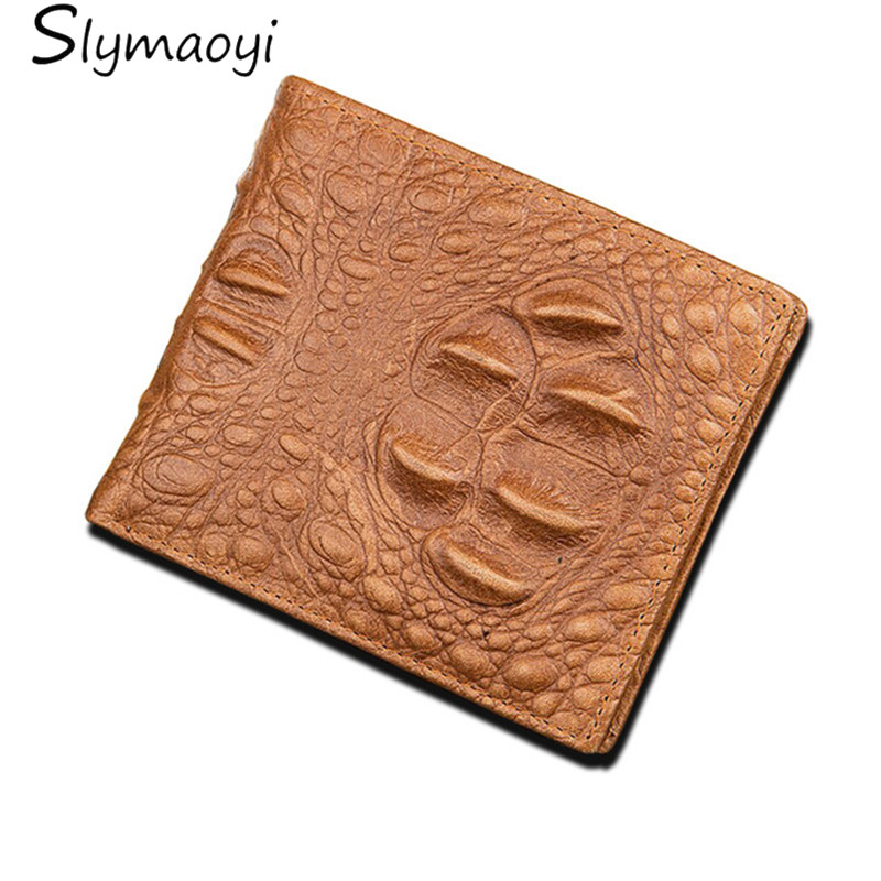 Genuine Leather Men Wallet Crocodile Wallet with Zipper Pocket High Quality Brand Men Wallets Male Purse Casual Card Holder brand unique design crocodile head pattern genuine leather men s wallets high quality by gmw007