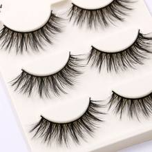 00bbd7099bd 3Pairs Handmade 3D Mink False Eyelashes Makeup Black Long Cross Fake Eye  Lashes Make up Extension Tools wimpers for Beauty Tools