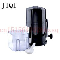 JIQI Ice Crushers Shavers Portable Black and silvery handheld handstyle Household snow manual crushing ice machine