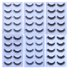 MB 5 Pairs رموش بالمنك ثلاثية الأبعاد فو cils الطبيعية سميكة اليدوية الشريط الكامل رموش اصطناعية يشكلون العين lashe كاذبة رموش ماكياج