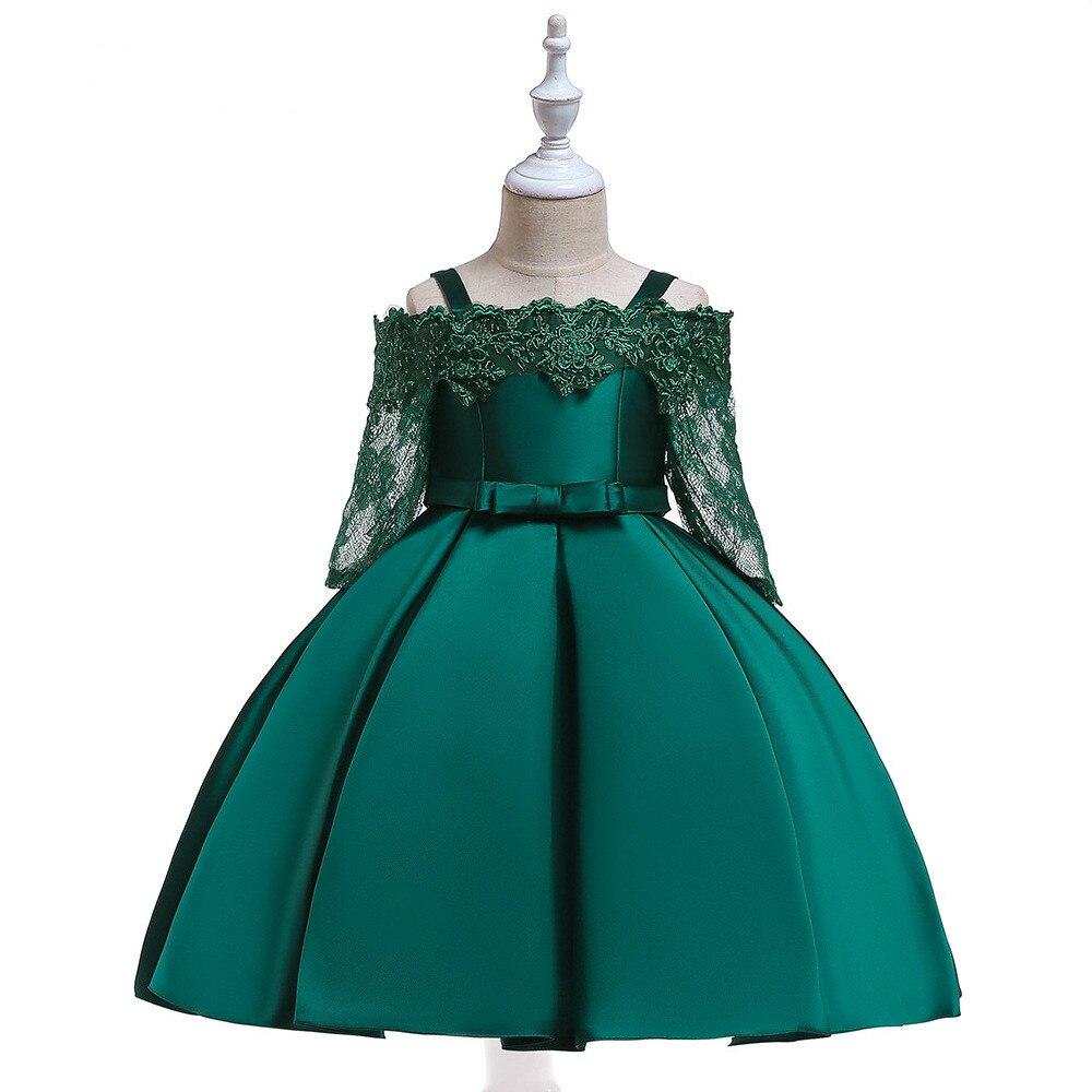 Fleur filles robe pour mariage soirée enfants princesse fête Pageant longue robe enfants robes pour filles vêtements formels