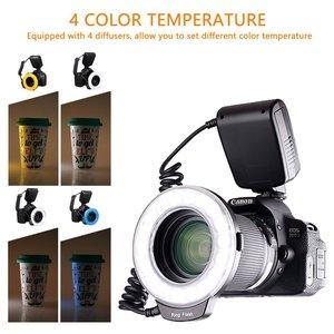 Image 5 - Capsaver anel de luz de led macro, 18 peças, smd, para pentax, canon, nikon, sony, olympus, panasonic, speedlite, display lcd, cri 90 RF 600D