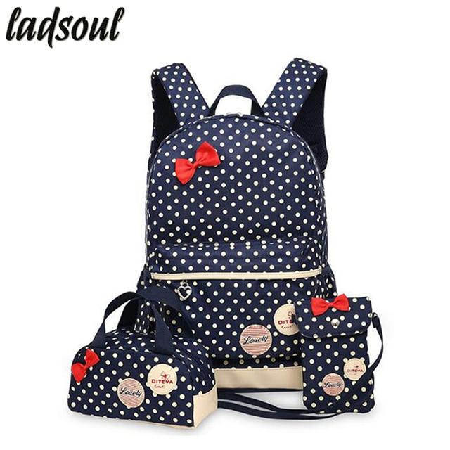 LADSOUL Korean Cute Printing Backpack Women School Backpacks For ...