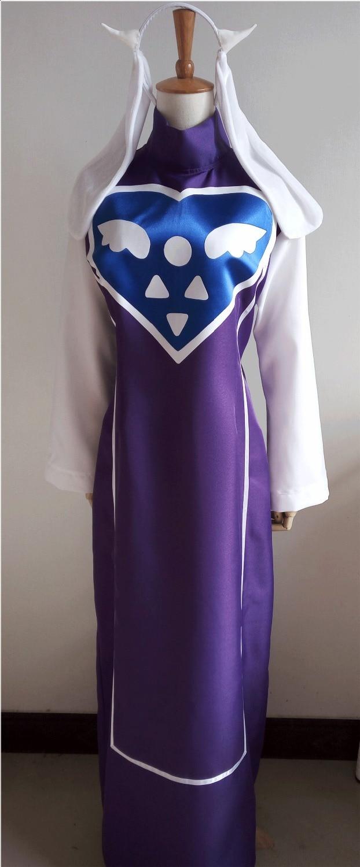 Undertale Toriel Cosplay Costume Custom Made Dress With Headwear