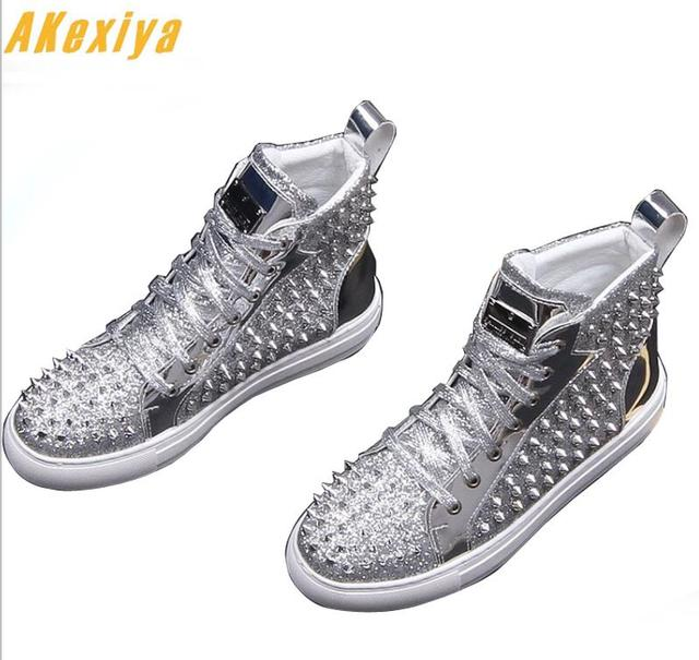 Men Brands Designer Fashion Rivet Causal Flats Loafers Shoes 2019