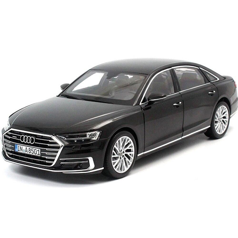 Масштаб 1:18 Audi A8L W12 2017 Модель литья под давлением металлическая машина модель игрушки подарок для сбора с бесплатной доставкой