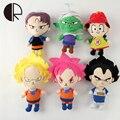 Новые Поступления Japaness Аниме Dragon Ball Z Плюшевые Игрушки Для мальчики Девочки Супер Герой Гоку Вегета Фаршированные Куклы 20 СМ Мультфильм Bringuedos