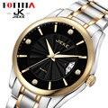 JK FOTINA Top Brand Reloj de Los Hombres de Acero Inoxidable Reloj Luminoso Horas Reloj Casual Vestido Reloj de Cuarzo Auto Fecha Reloj de pulsera de Oro