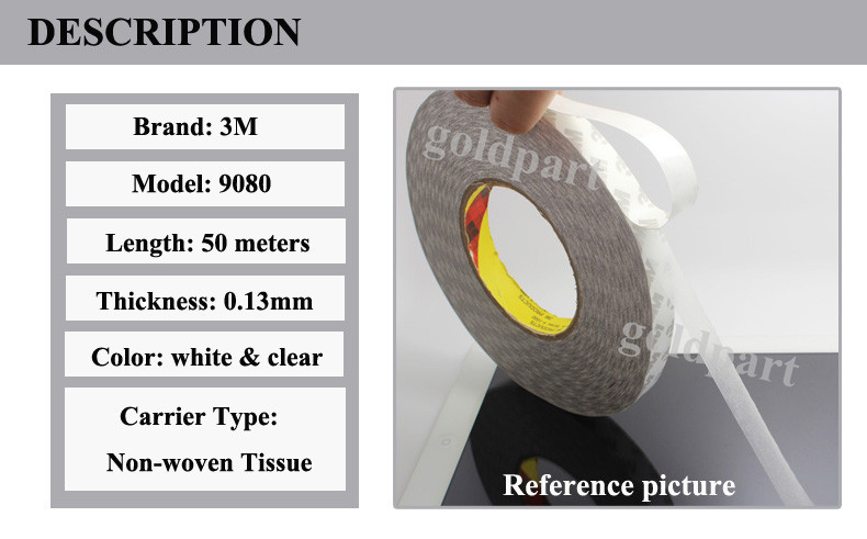 20x 3 мм* 50 метров 3 м 9080 Двухсторонняя клейкая лента для светодиодной ленты, клейкая лента, с номером отслеживания# A15