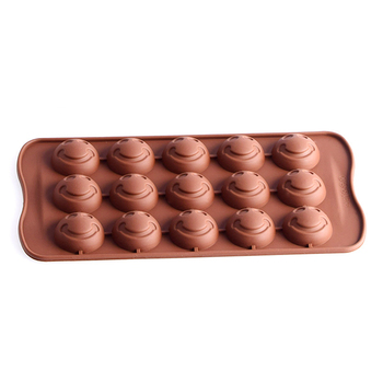 Smiley face shape High quality Environmental Protection silicone chocolate mold flip candy cake baking mold crystal glue Creativ