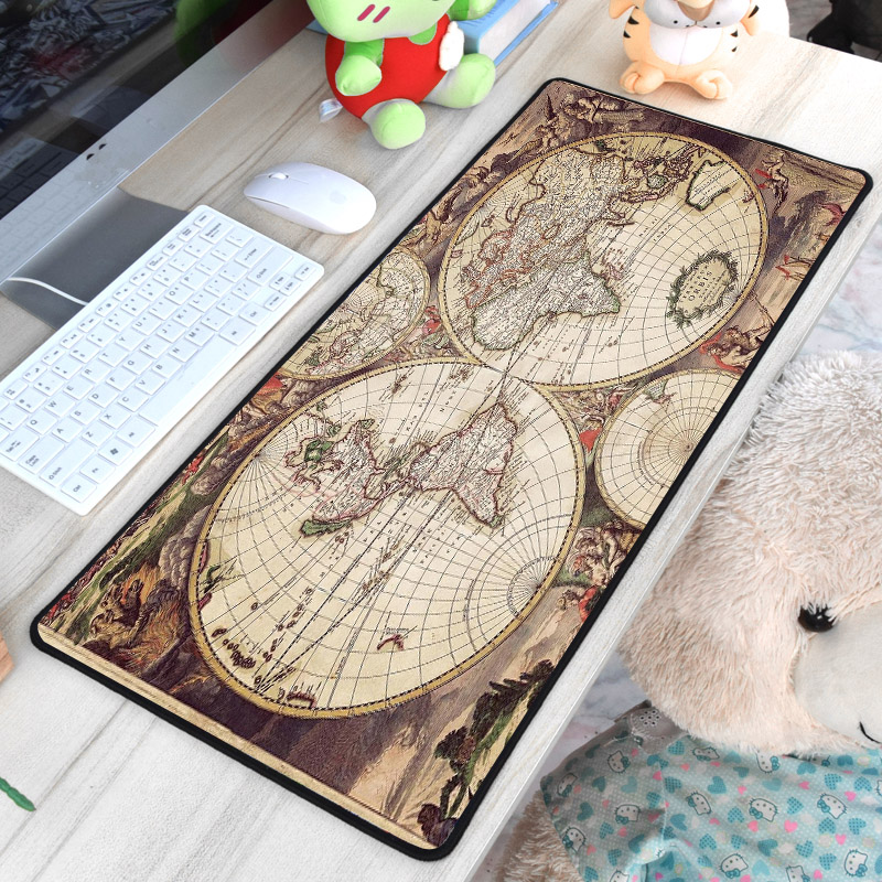Mairuige Cool Creative Map Pattern Printed Mousepad Xxl Rubber Pc Computer Game Gaming Mouse Pad for Decorate Desktop Gamer Mat e 3lue emp013 gaming mouse pad gamer rubber pad mousepad rgb light lighting mice mousepad for computer pc notebook loptop page 10