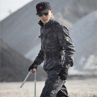 Outdoors Tactical Combat Army Military Uniform Black Multicam Uniform Outdoor Sport Military uniforme militar Plus size s 4xl